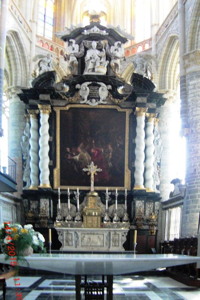 L' autel église St Nicholas_Gand
